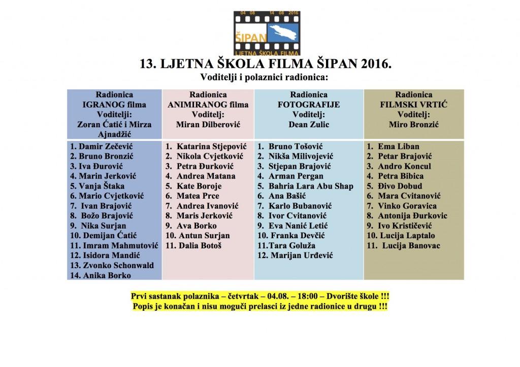 LJSFS - djeca i voditelji 2016